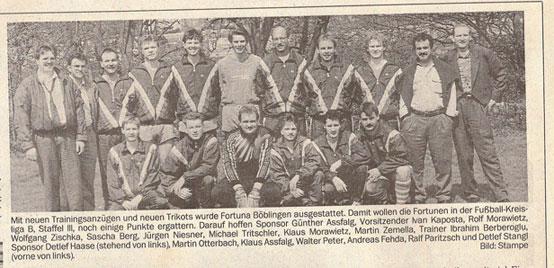 24.04.1991 - Neue Trainingsanzüge und Trikots von Günther Assfalg