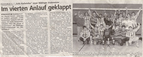 22.02.1999 - Neuer Böblinger Stadtmeister