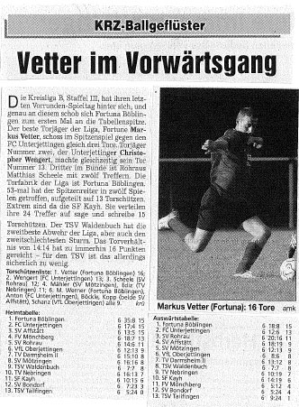 15. November 2006 - Fortuna: Torfabrik der Liga!