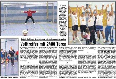 12. Januar 2008 - 5. Böblinger Stadtmeisterschaft im 9m-Schießen