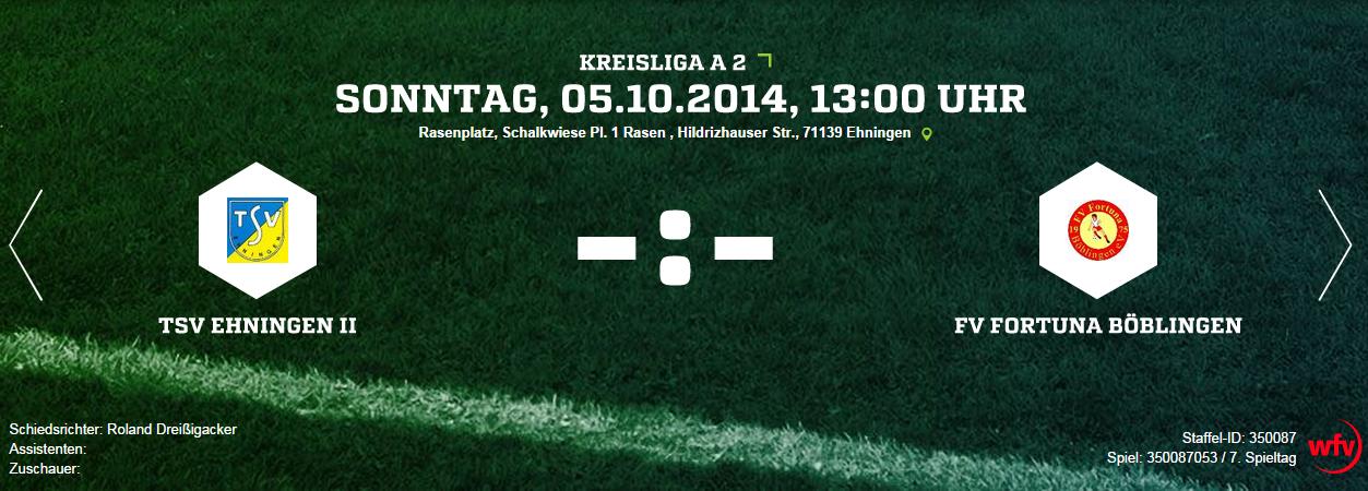 Auswärtsspiel beim TSV Ehningen II